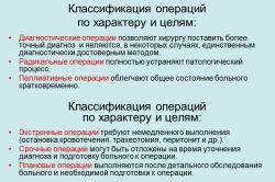 Классификация операций по характеру и целям